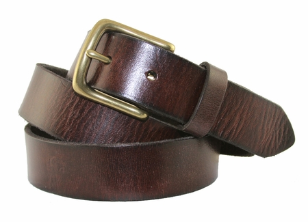 "6472 Men's Dress/Casual Leather Belt 1-1/4"" Wide Coffee $29.95"