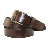"6472 Men's Dress/Casual Leather Belt 1-1/4"" Wide Coffee"