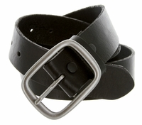 "695 Men's One Piece Full Leather Casual Jean Belt 1-1/2"" wide - Black"