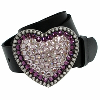 70144 Swarovski Rhinestones Full Grain Leather Belt
