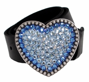 70366 Swarovski Rhinestones Full Grain Leather Belt