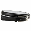 "7055 Solid Black Skinny Dress Belt 3/4"" or 19mm Wide"