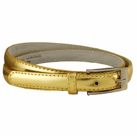 "7055 Solid Gold Skinny Dress Belt 3/4"" or 19mm Wide"