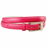 "7055 Solid Hot Pink Skinny Dress Belt 3/4"" or 19mm Wide"