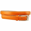 "7055 Solid Orange Skinny Dress Belt 3/4"" or 19mm Wide"