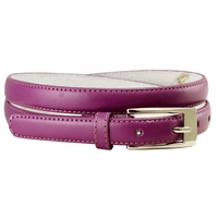 "7055 Solid Purple Skinny Dress Belt 3/4"" or 19mm Wide"