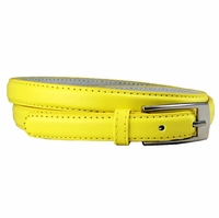"7055 Solid Yellow Skinny Dress Belt 3/4"" or 19mm Wide"