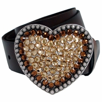 70659 Swarovski Rhinestones Full Grain Leather Belt