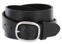 "718 Full Leather Work Uniform Belt 1-1/4"" Wide - Black"