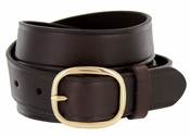 "718 Full Leather Work Uniform Belt 1-1/4"" Wide - Brown"