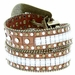"8047 Women's Western Cowgirl rhinestone-studded Leather Belt 1-1/2"" Wide Brown2"