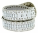 "8047 Women's Western Cowgirl rhinestone-studded Leather Belt 1-1/2"" Wide White2"