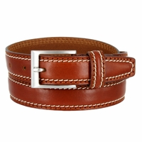 "8118/30 Men's Italian Leather Dress Casual Belt 1-1/8"" Wide Made in Italy - Marrone (Brown)"