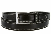 "8118/30 Men's Italian Leather Dress Casual Belt 1-1/8"" Wide Made in Italy - Nero (Blackk"