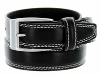 8119 Men's Italian Leather Dress Casual Belt Made in Italy - Nero(Black)