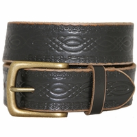 85 Vintage Genuine Leather Belt-Black