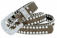 "9001 Women's Rhinestones Studded Fashion Belt 1"" Wide Gold"