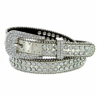 "9011 Women's rhinestone-studded Fashion Belt 3/4"" Wide - Gold"