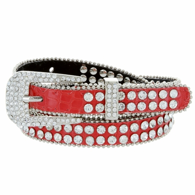 9011 s rhinestone studded fashion belt 3 4 quot wide
