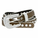 "9030 Women's Rhinestones Studded Fashion Belt 3/4"" Wide Gold"