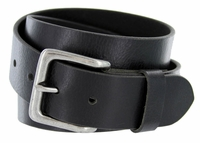 "A399 Men's Full Grain Vintage Leather Belt - Black 1-1/2"" wide"