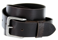 "A399 Men's Full Grain Vintage Leather Belt - Coffee 1-1/2"" wide"