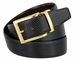 "A505-GP-160503 Men's Reversible Genuine Leather Dress Casual Belt 1-3/8"" (35mm) wide - Black/Brown1"