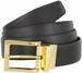 "A505-GP-160505 Men's Reversible Genuine Leather Dress Casual Belt 1-3/8"" (35mm) wide - Black/Brown2"