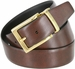 "A505-GP-160505 Men's Reversible Genuine Leather Dress Casual Belt 1-3/8"" (35mm) wide - Black/Brown4"
