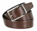 "A505-NP-160504 Men's Reversible Genuine Leather Dress Casual Belt 1-3/8"" (35mm) wide - Black/Brown4"