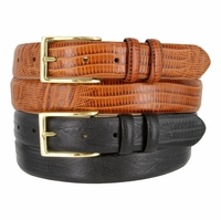 "Adam 6162 Men's Gold Buckle Leather Dress Belt 1 1/8"" Wide"