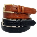 "Adam 6162 Men's Italian Leather Dress Belt  1 1/8"" Wide"