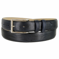 "Adam 6162 Men's Italian Leather Dress Navy Belt 1-1/8"" Wide"