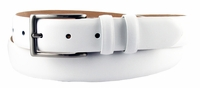 "Adam 6162 Men's Smooth Leather Dress Belt  1 1/8"" Wide-White $34.95"