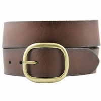 Alicia Women's Casual Leather Jean Belt - Brown
