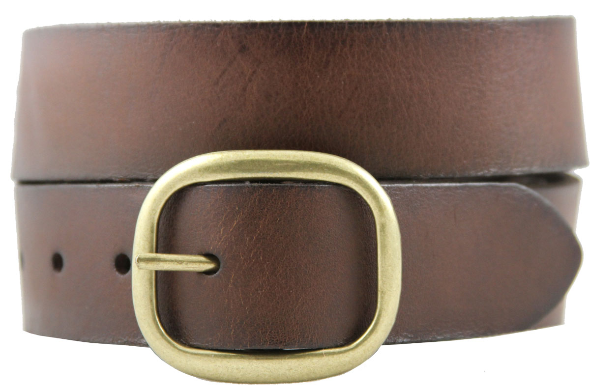 s casual leather jean belt brown