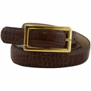 Alligator Embossed Leather Belt