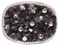 Amethyst Gem Stone Belt Buckle