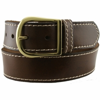 "Amis Full Grain Leather Casual Jean Belt 1.5"" Wide"