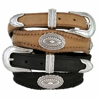 Arizona Southwestern Conchos Leather Western Belt