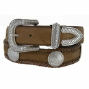 Arlington Western Coin Concho Leather Belt