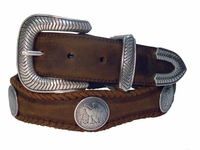 Arlington Western Coin Concho Leather Belt  $39.95
