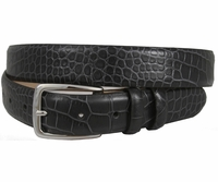 "Arman 3208 Men's Italian Leather Charcoal Dress Belt 1 1/8"" Wide $34.95"