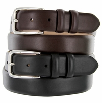 "Armando Italian Designer Calfskin Leather Dress Belt 1-1/8"" Wide"