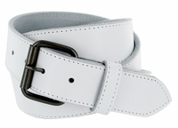 "Arctic White Genuine Leather White belt with roller buckle 1-1/2"" Wide $29.95"