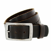 "Deal of Today $19.95 B6552 Full Grain Hand Wave-Stitched Vintage Belt 1-1/2"" Wide"
