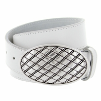Basket Weave Belt Buckle Casual Jean Leather Belt