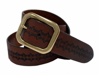 Bass Western Vintage Full Grain Leather Belt
