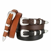 "Beckman Genuine Leather Ranger Belt 1-1/8"" taper to 3/4"""