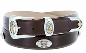 Bellerive Men's Leather Designer Dress and Golf Belt